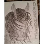 Darkhorse Drawing by Christine A Ellis/CreativelyMusical.com