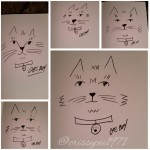 Cat Doodles #2 by Christine A Ellis/CreativelyMusical.com